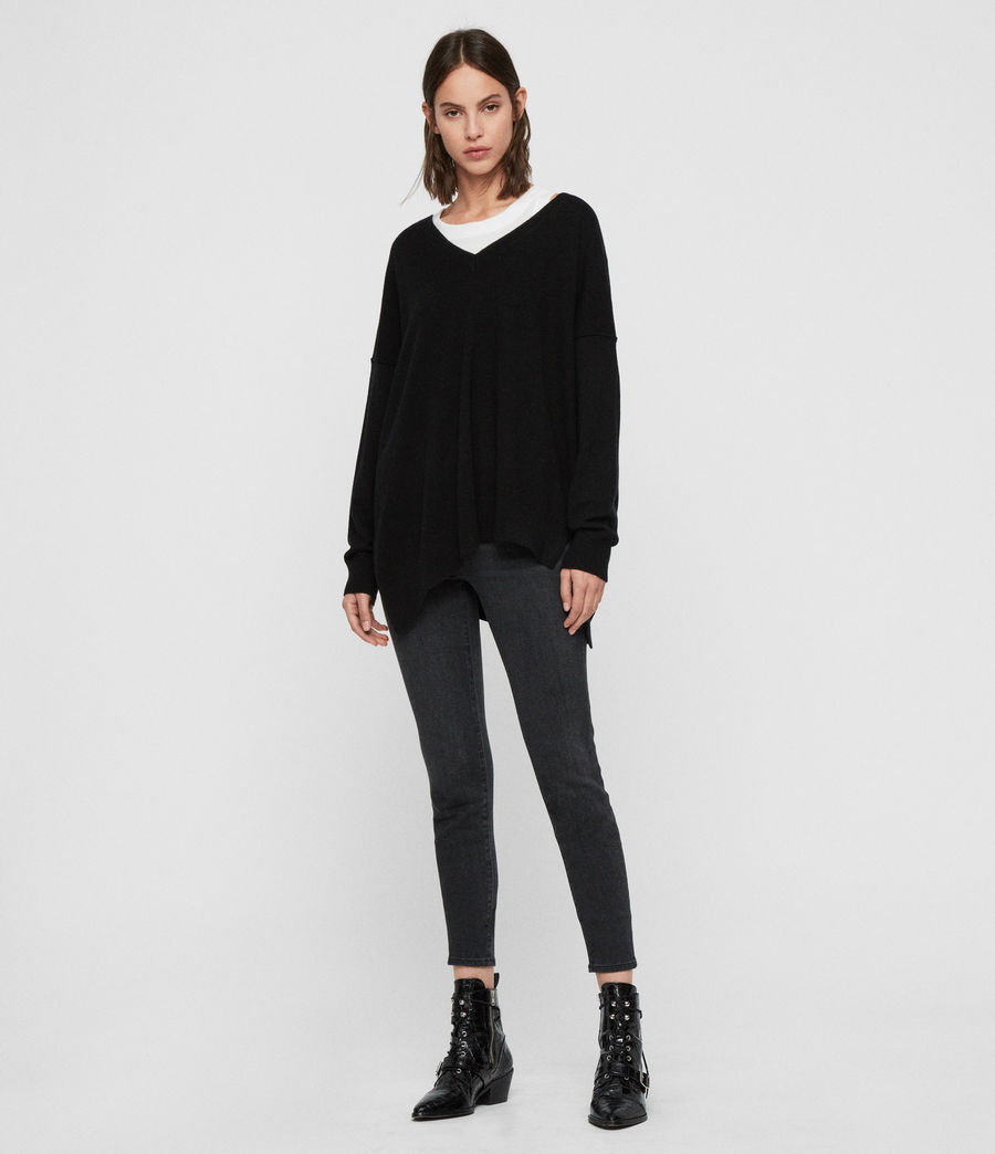 Womens Amber Sweater (black) - Image 3