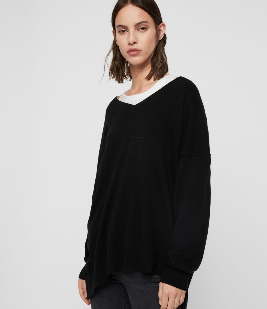 Womens Amber Sweater (black) - Image 4