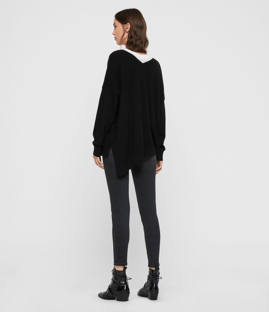 Womens Amber Sweater (black) - Image 5