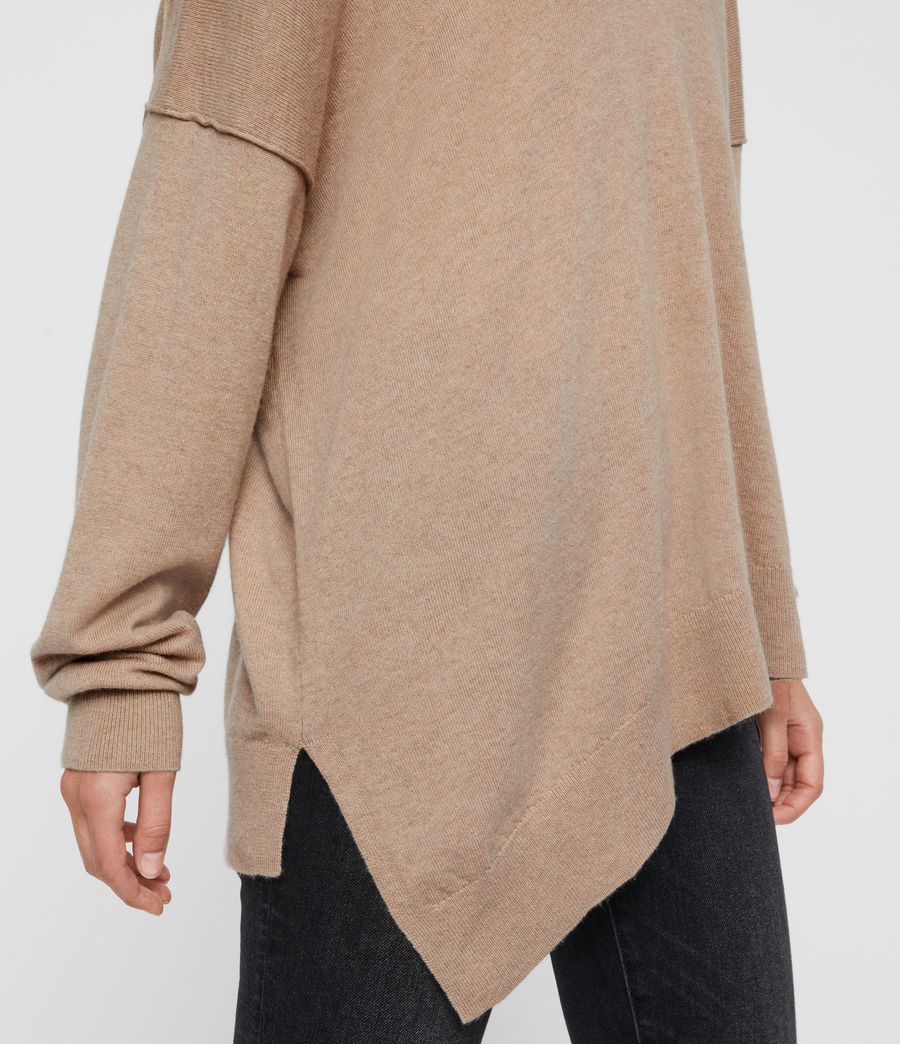 Womens Amber Cashmere Blend Sweater (putty_pink) - Image 5