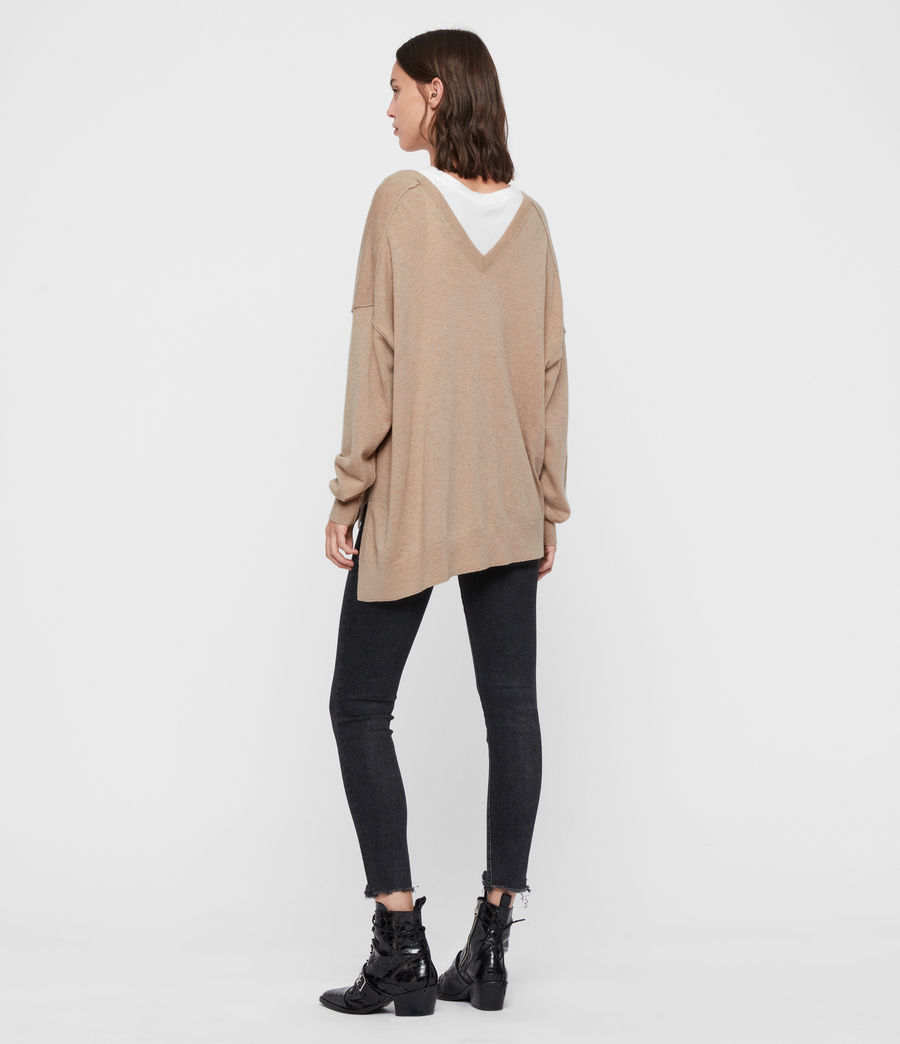 Womens Amber Cashmere Blend Sweater (putty_pink) - Image 6