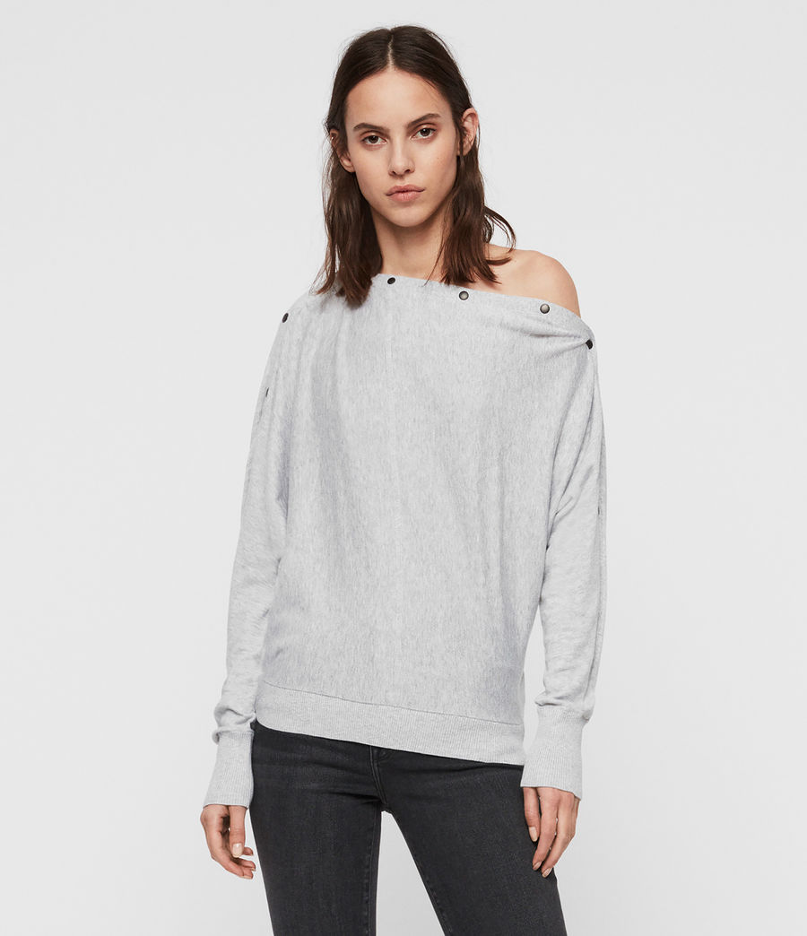 Womens Elle Sweater (grey_marl) - Image 4