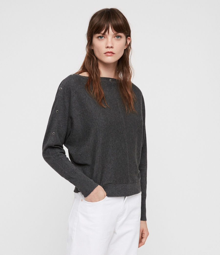 Women's Elle Jumper (charcoal_grey) - Image 1