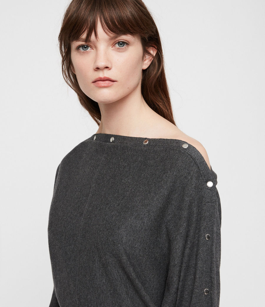 Women's Elle Jumper (charcoal_grey) - Image 2