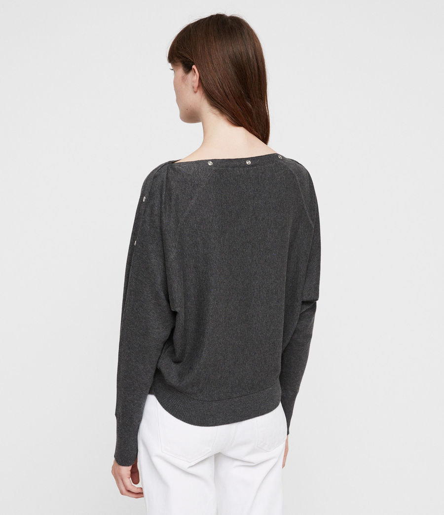 Women's Elle Jumper (charcoal_grey) - Image 3