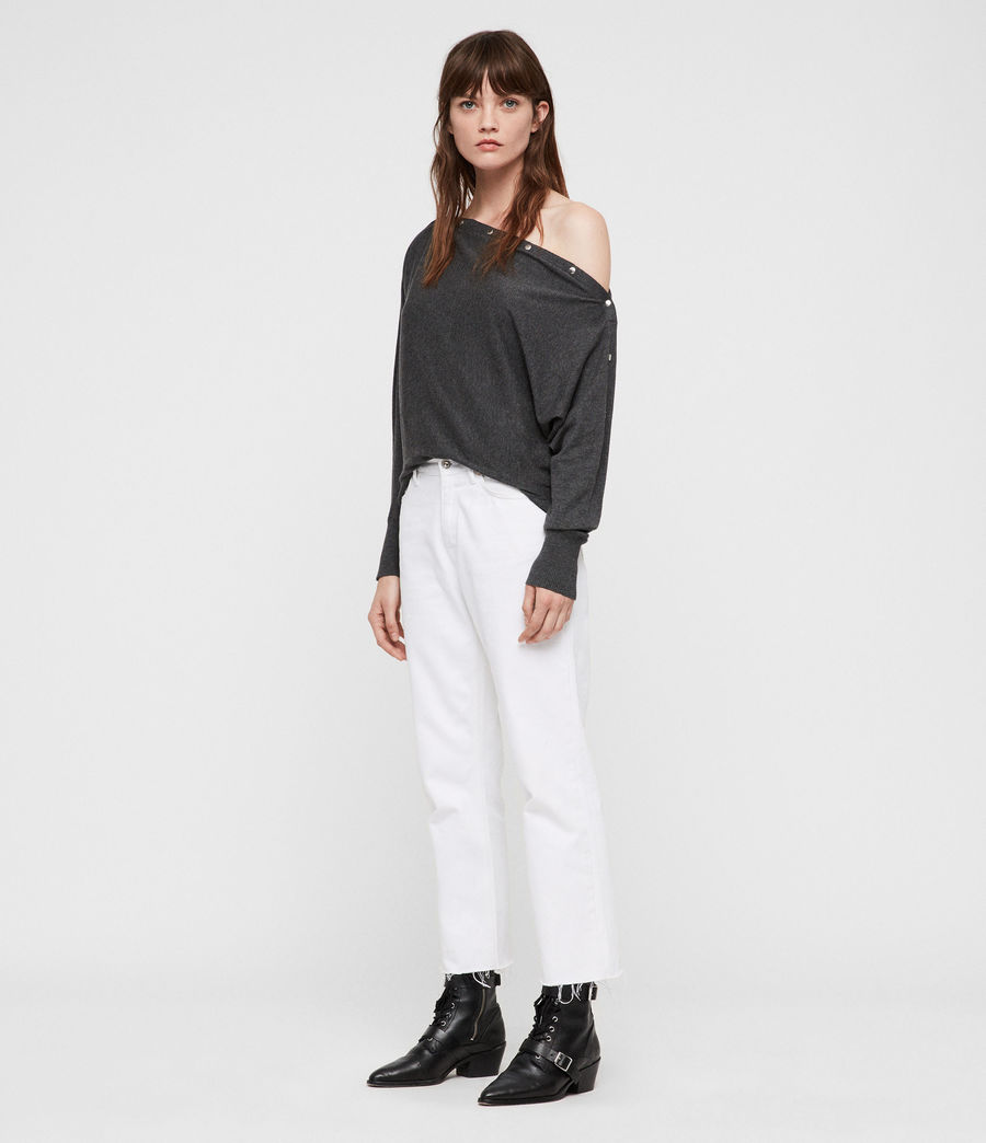 Women's Elle Jumper (charcoal_grey) - Image 4