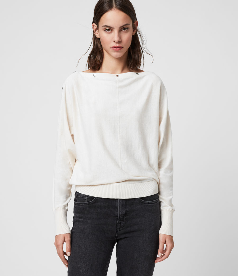 Women's Elle Jumper (porcelain_white) - Image 1