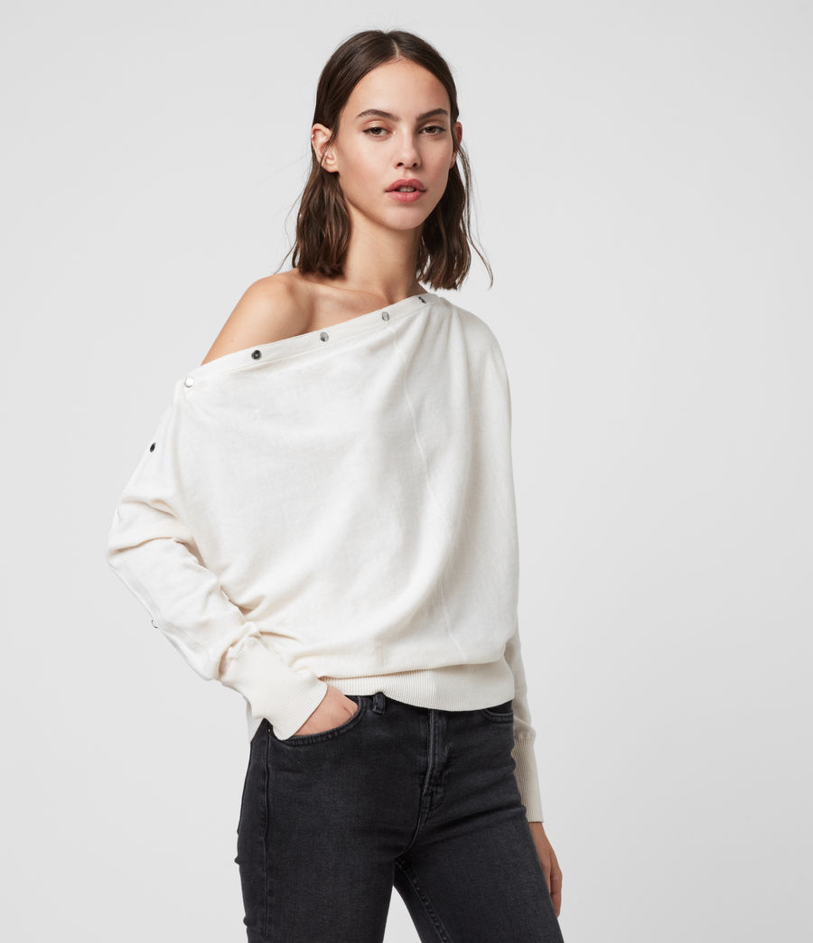Women's Elle Jumper (porcelain_white) - Image 4