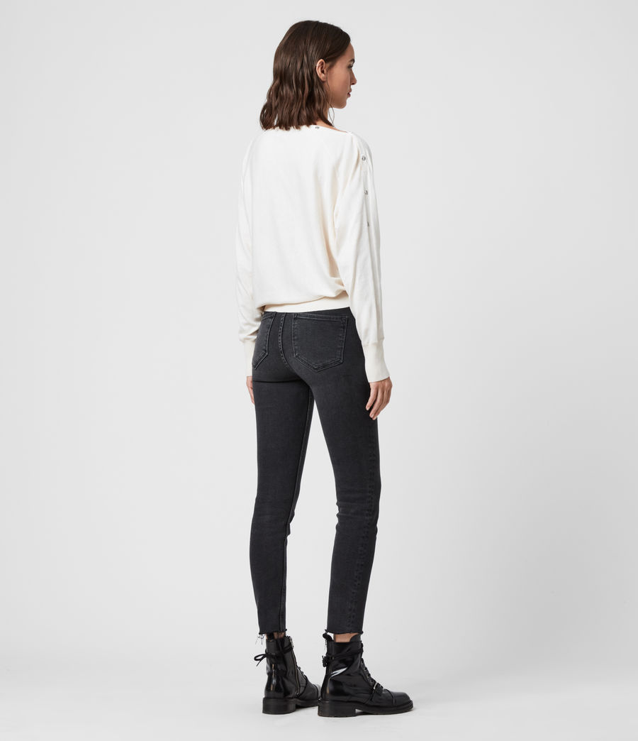 Women's Elle Jumper (mint_green_melange) - Image 5