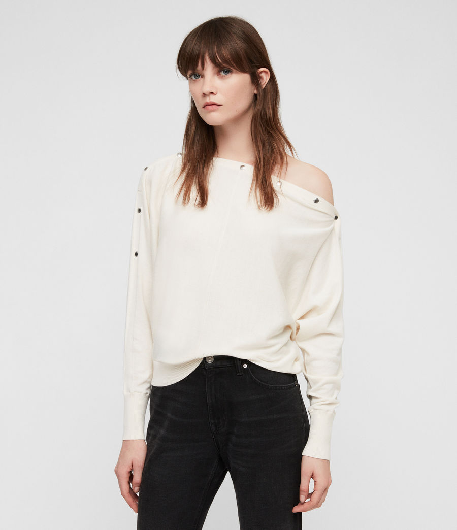 Women's Elle Jumper (chalk_white) - Image 3