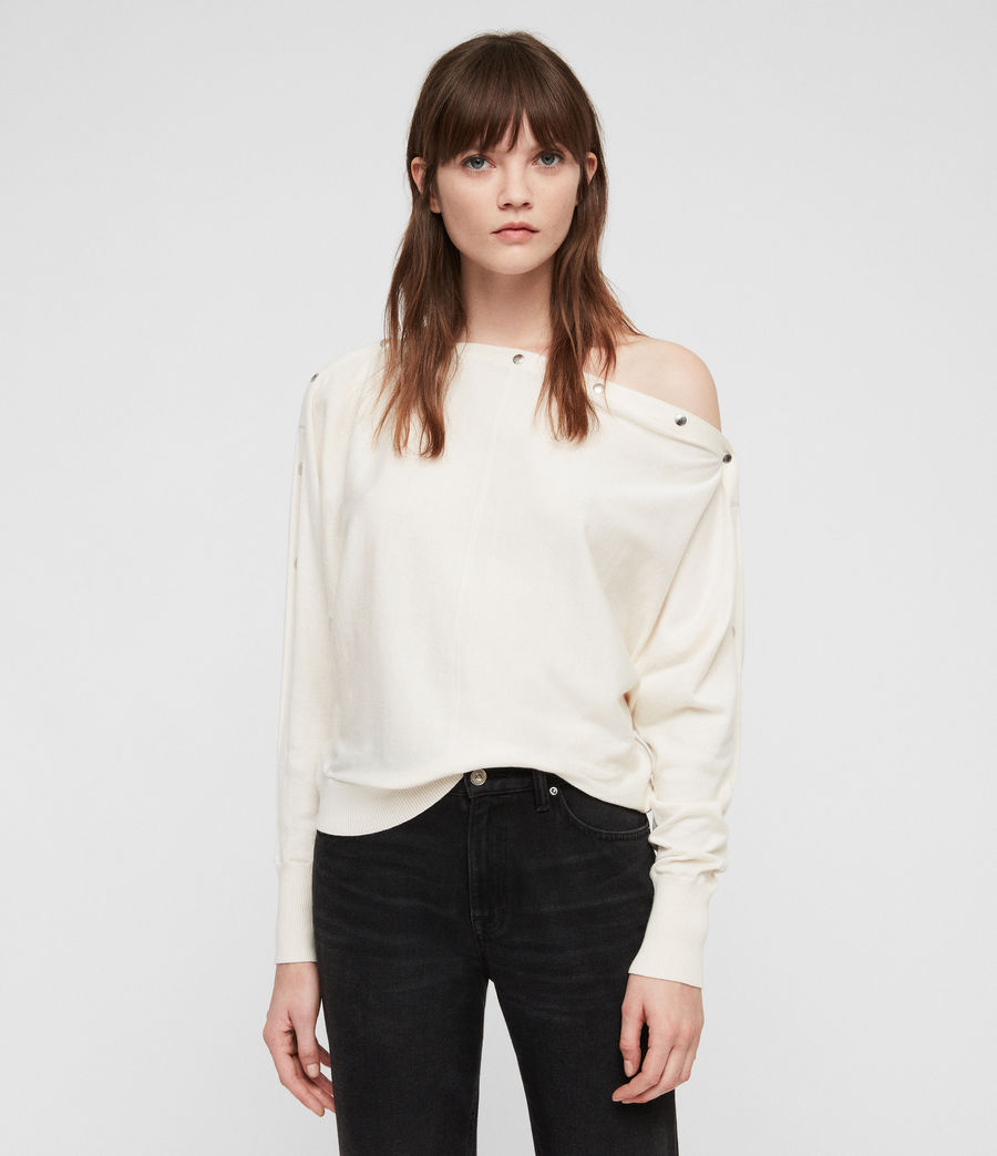 Women's Elle Jumper (chalk_white) - Image 4