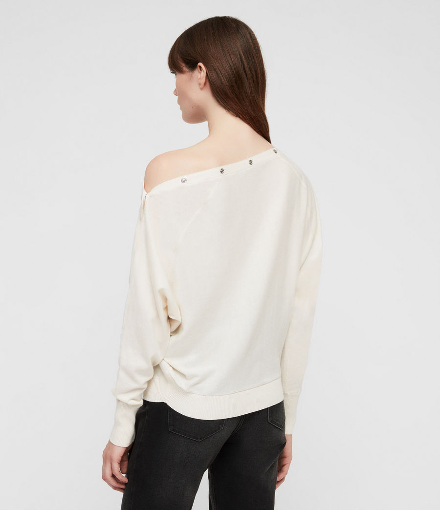 Women's Elle Jumper (chalk_white) - Image 5