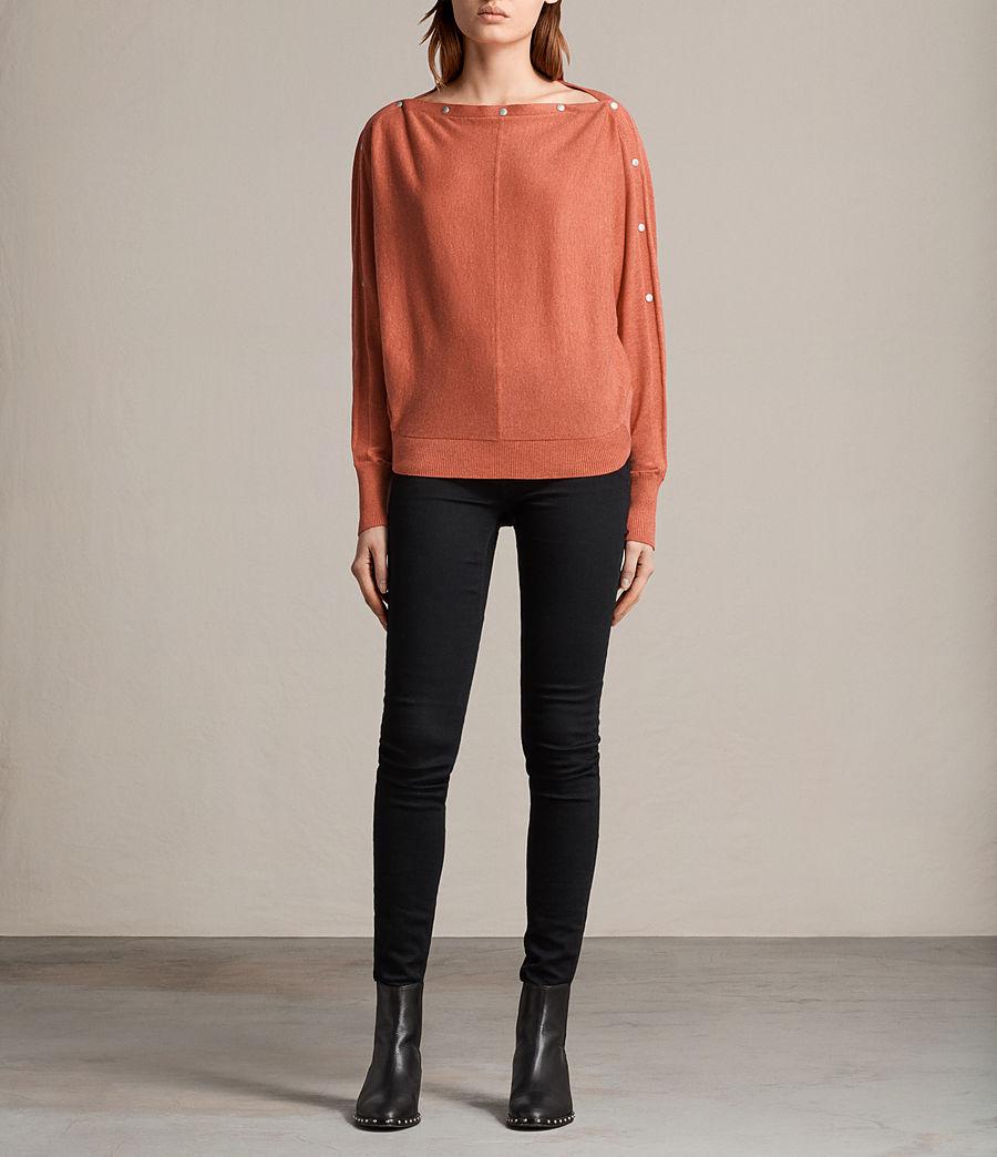 Damen Elle Pullover (coral_red) - Image 1