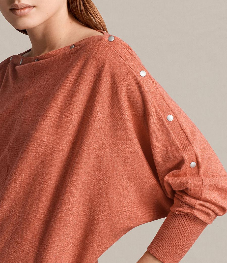 Damen Elle Pullover (coral_red) - Image 2