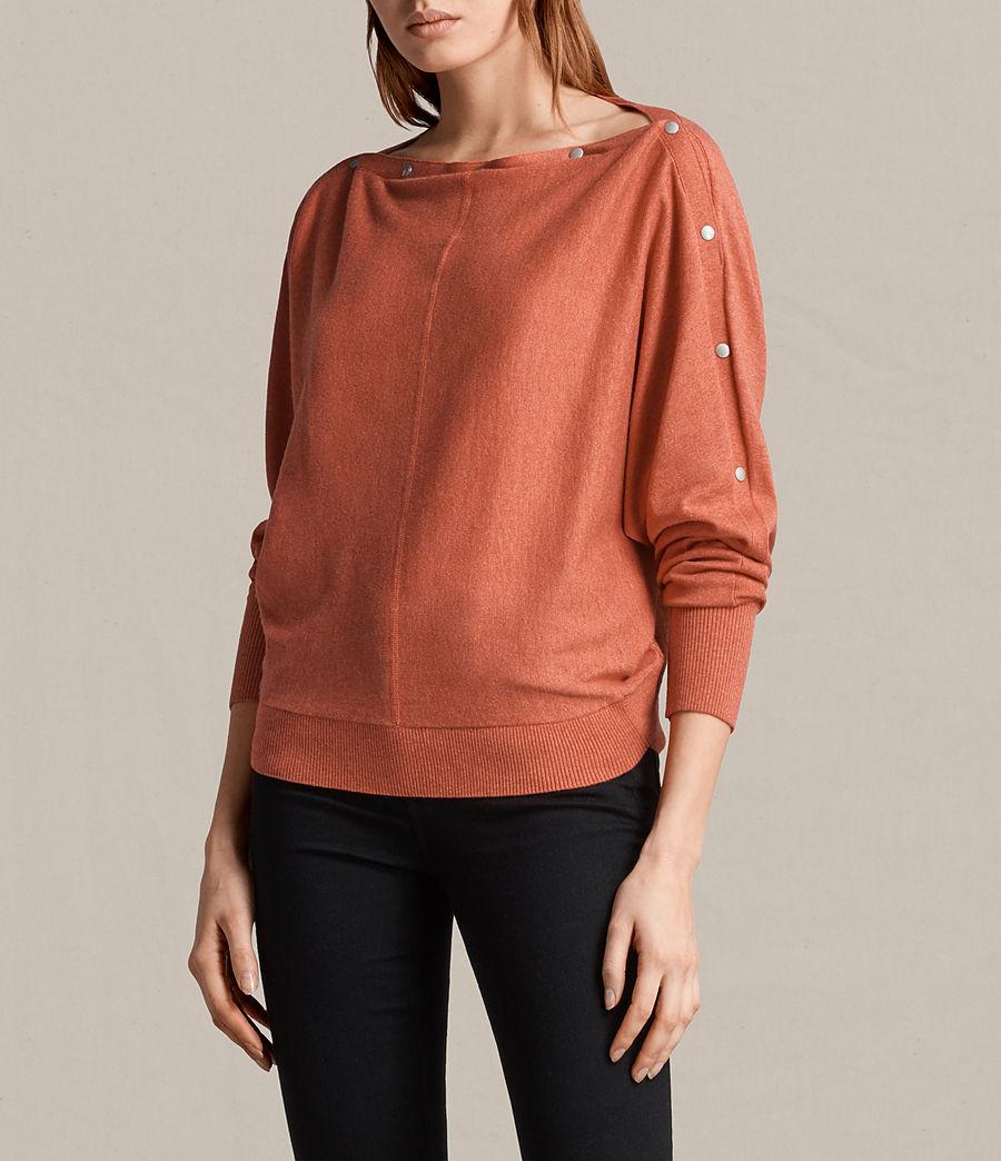Damen Elle Pullover (coral_red) - Image 3