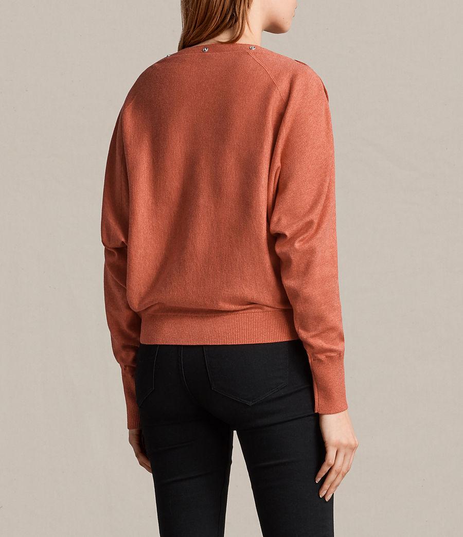 Damen Elle Pullover (coral_red) - Image 5