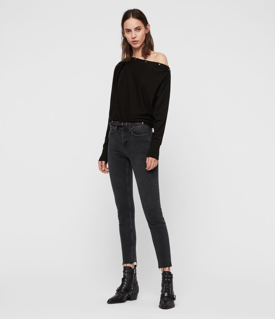 Womens Elle Sweater (black) - Image 2