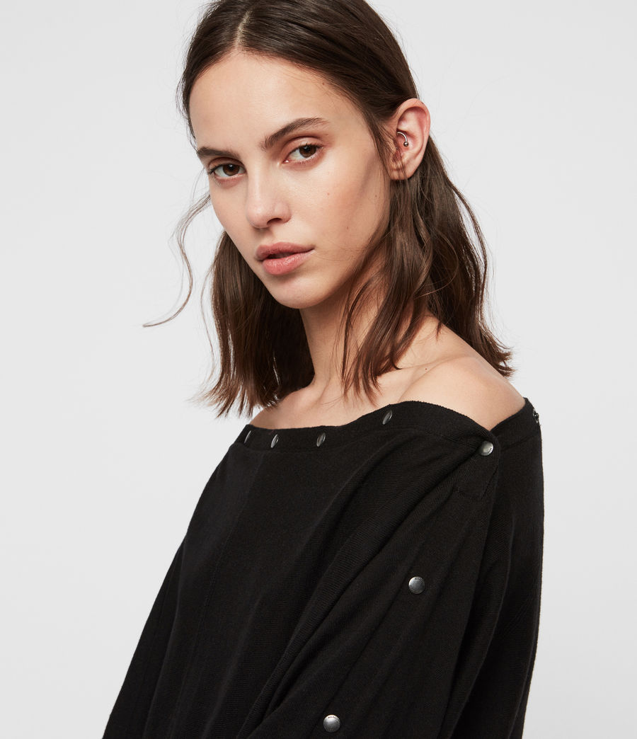 Womens Elle Sweater (black) - Image 3