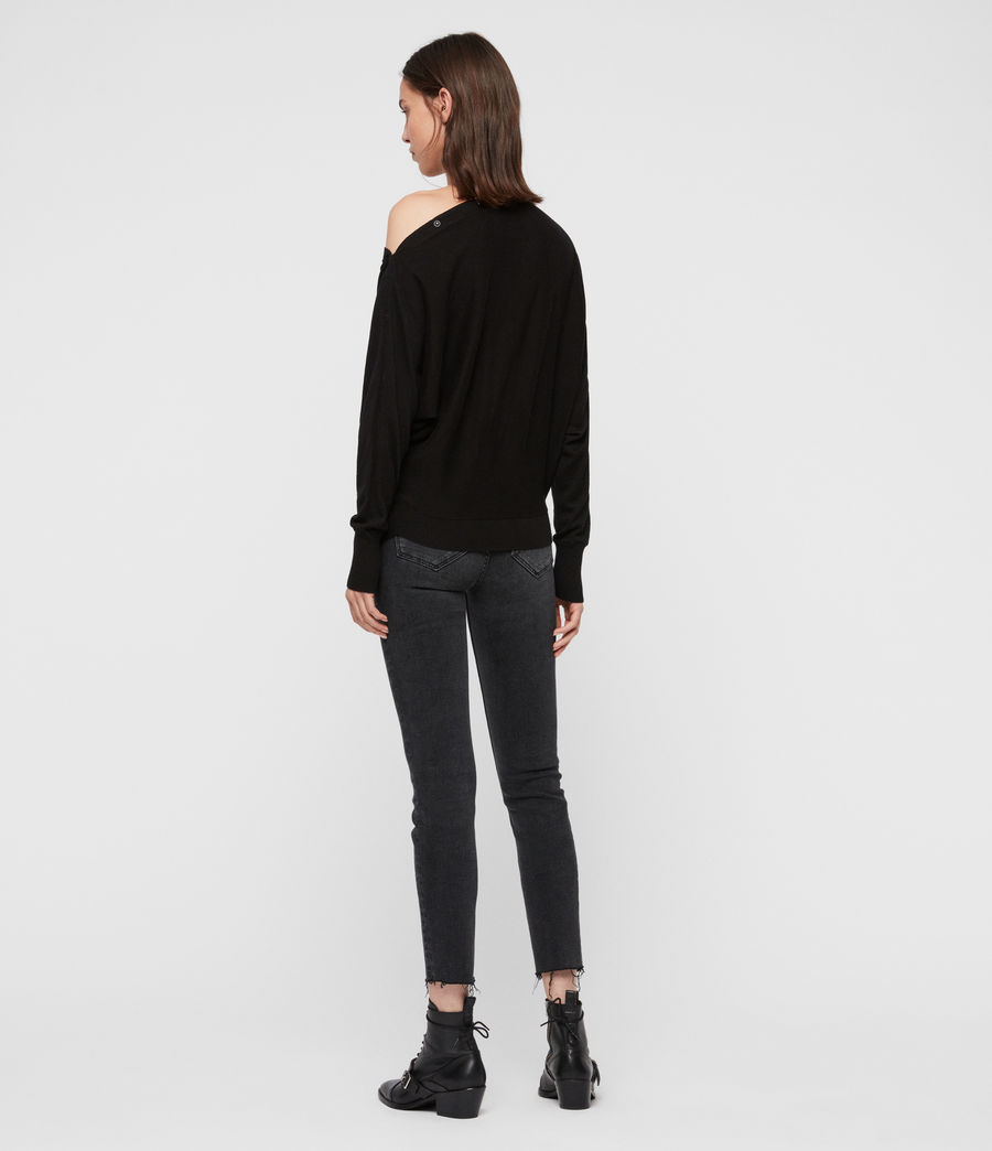 Womens Elle Sweater (black) - Image 4