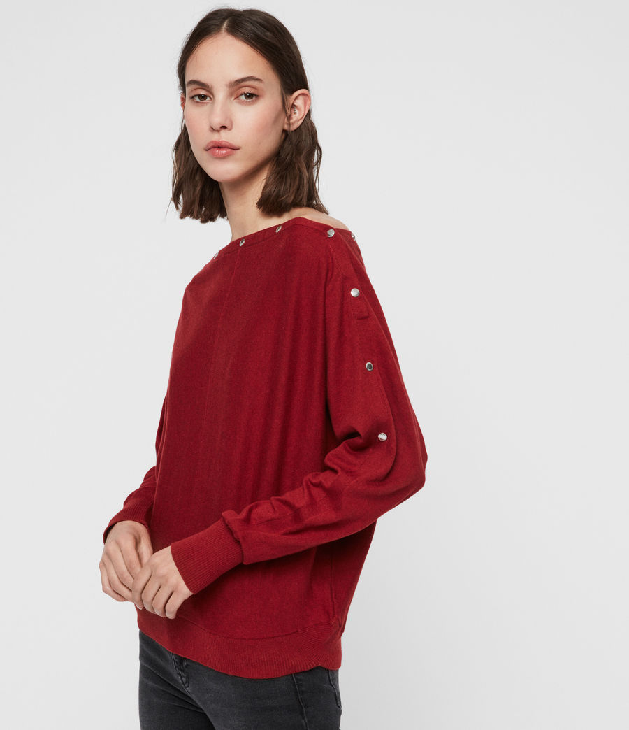 Damen Elle Jumper (cranberry_red) - Image 1