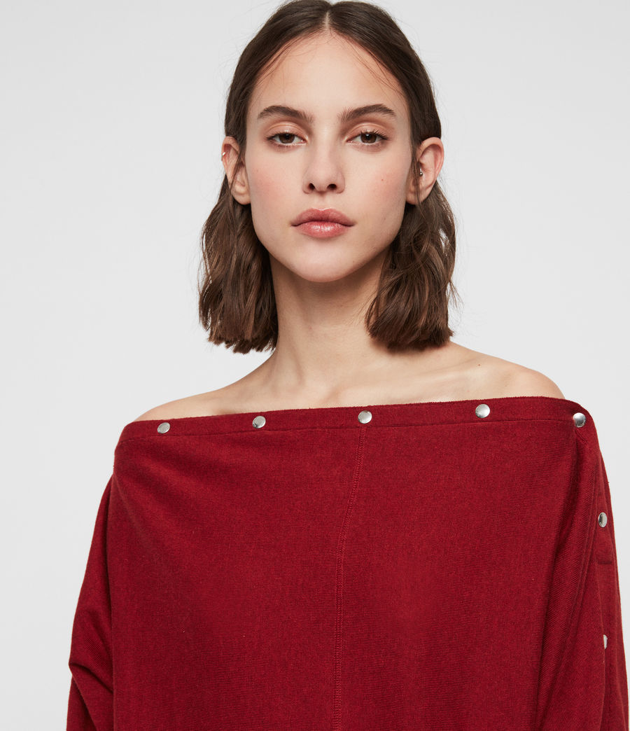 Damen Elle Jumper (cranberry_red) - Image 2