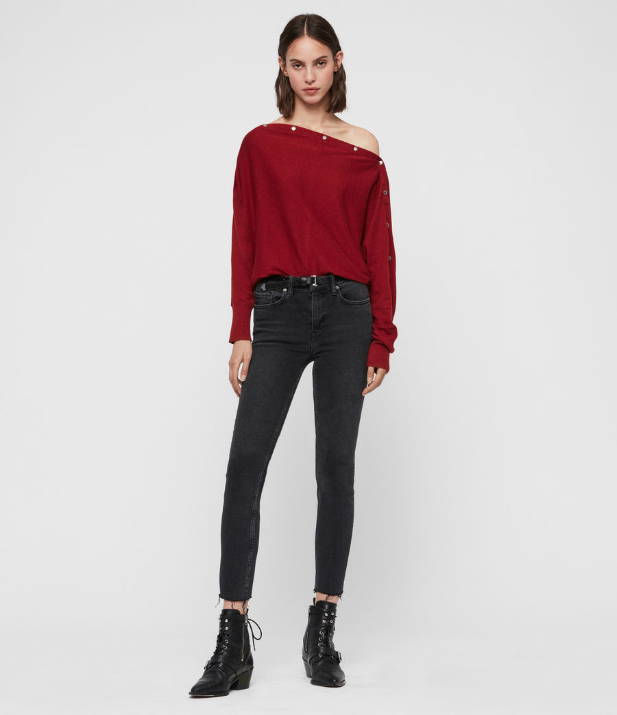 Damen Elle Jumper (cranberry_red) - Image 3