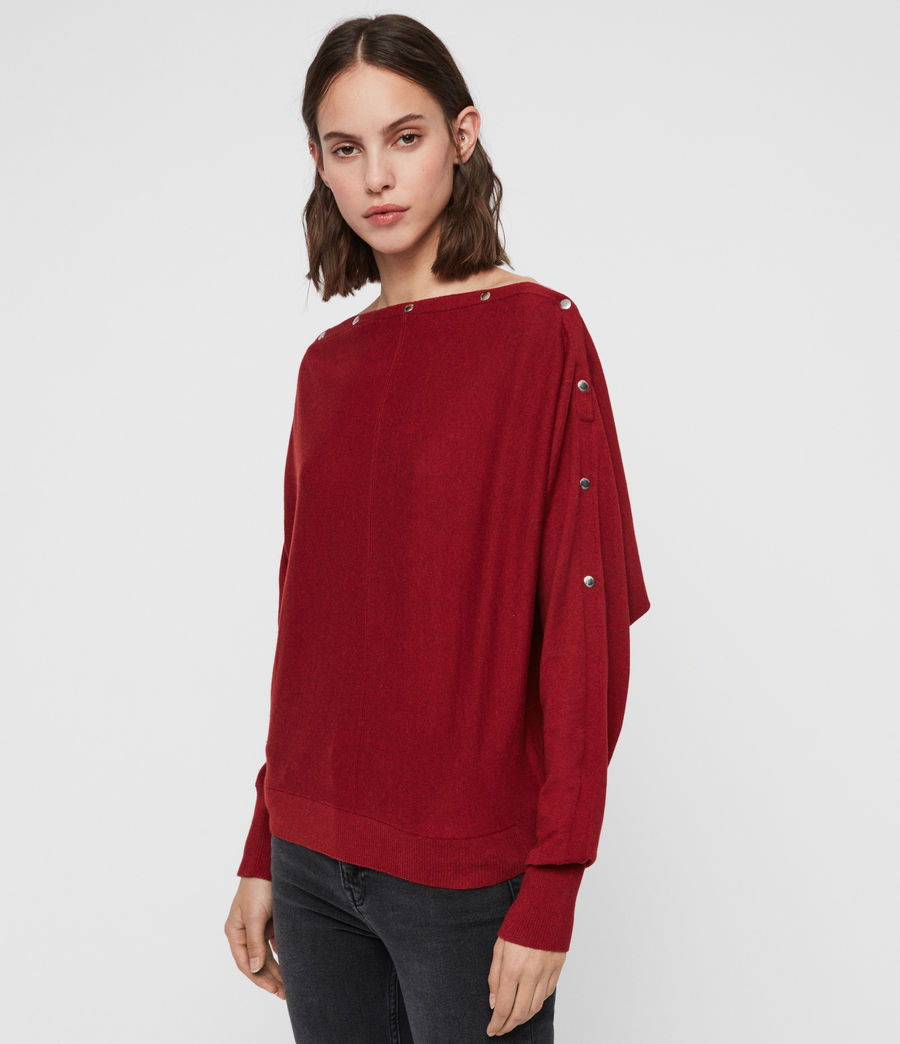 Damen Elle Jumper (cranberry_red) - Image 4