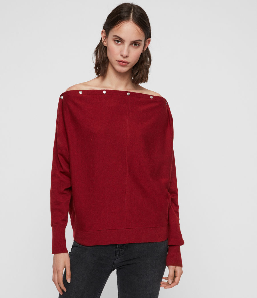 Damen Elle Jumper (cranberry_red) - Image 5