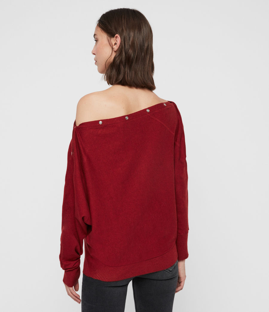 Damen Elle Jumper (cranberry_red) - Image 6