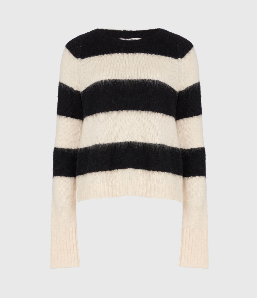 Womens Lou Sweater (mallow_pink_black) - Image 2