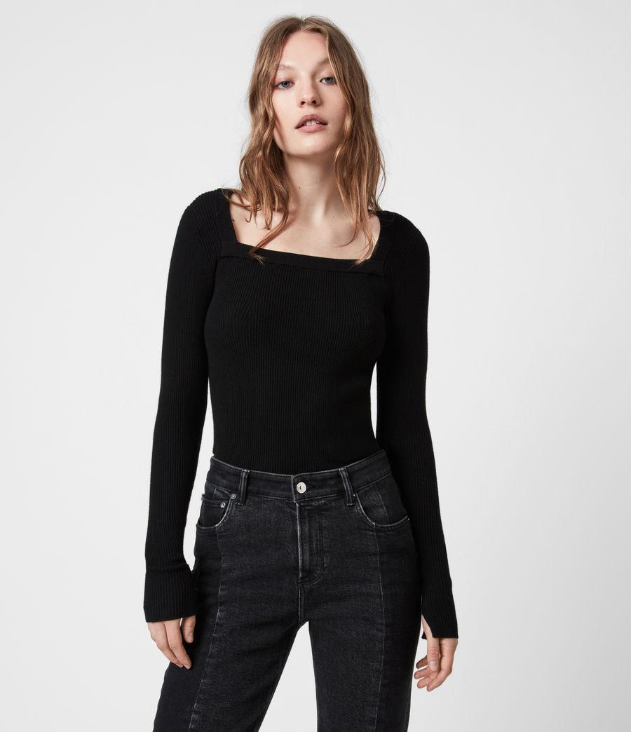Womens Bardi Rib Top (black) - Image 1