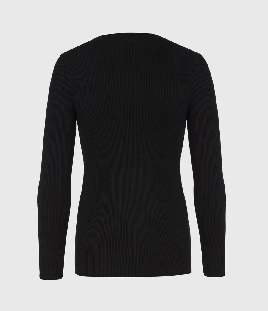 Womens Bardi Rib Top (black) - Image 3