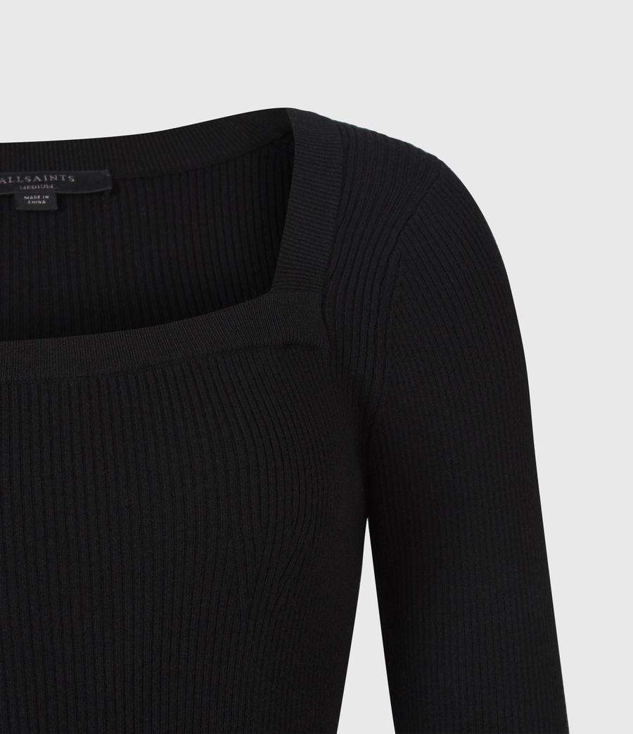 Womens Bardi Rib Top (black) - Image 4