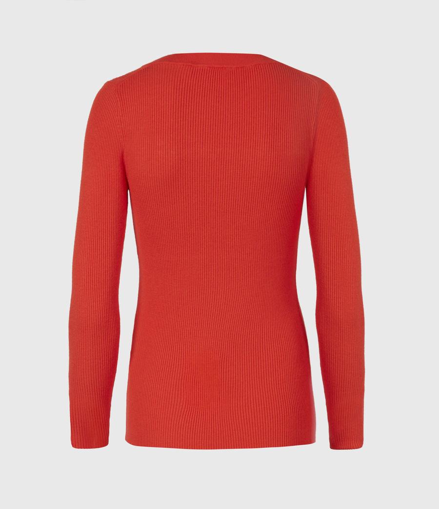 Womens Bardi Rib Top (flame_red) - Image 3