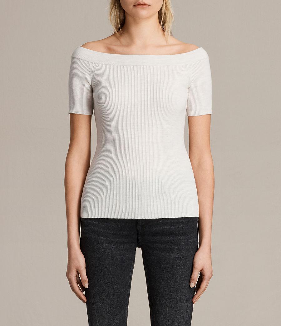 Women's Lavine Top (ecru_white) - Image 1