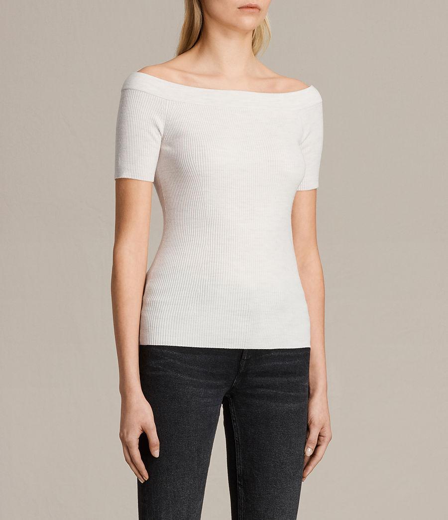 Women's Lavine Top (ecru_white) - Image 2