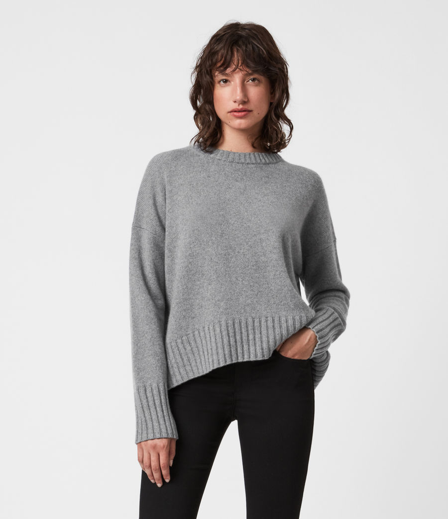 Mujer Arun Cashmere Blend Sweater (grey_marl) - Image 1