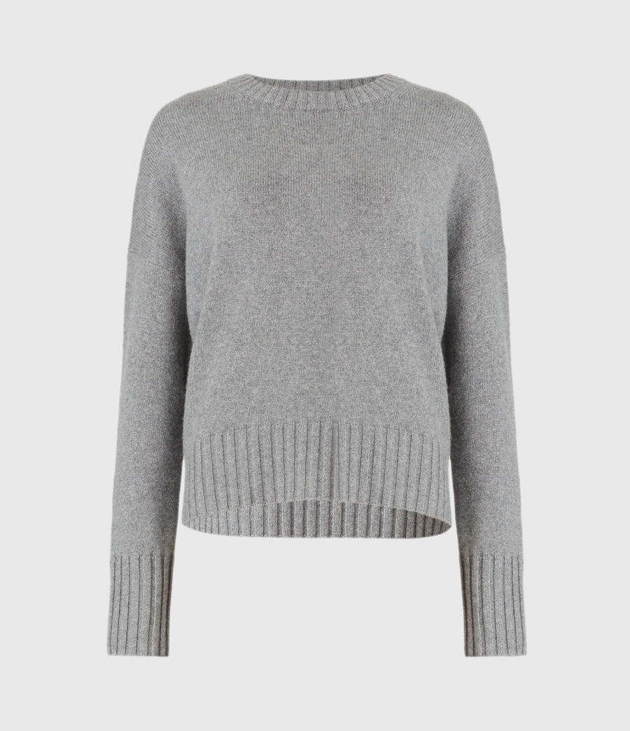 Mujer Arun Cashmere Blend Sweater (grey_marl) - Image 2