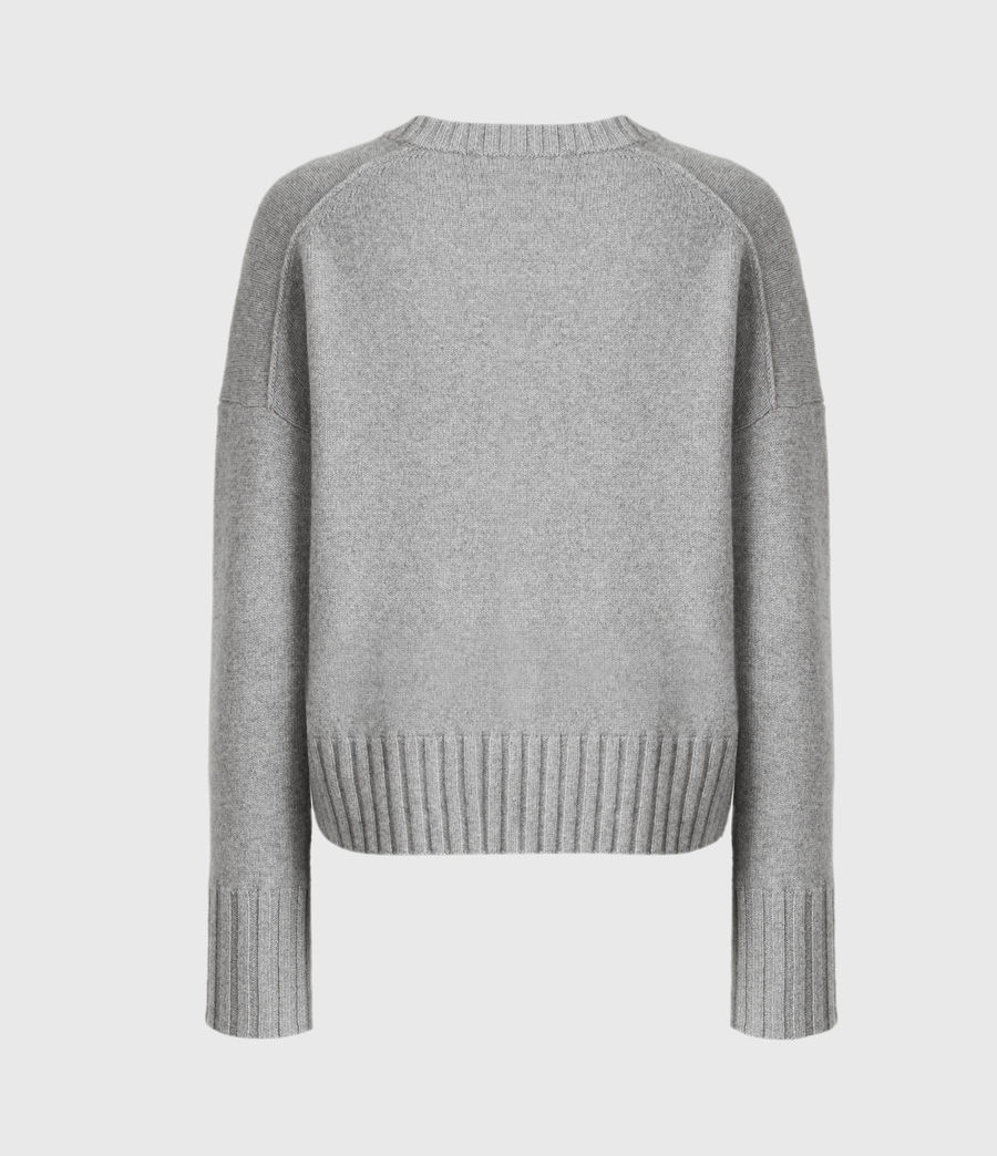 Mujer Arun Cashmere Blend Sweater (grey_marl) - Image 3