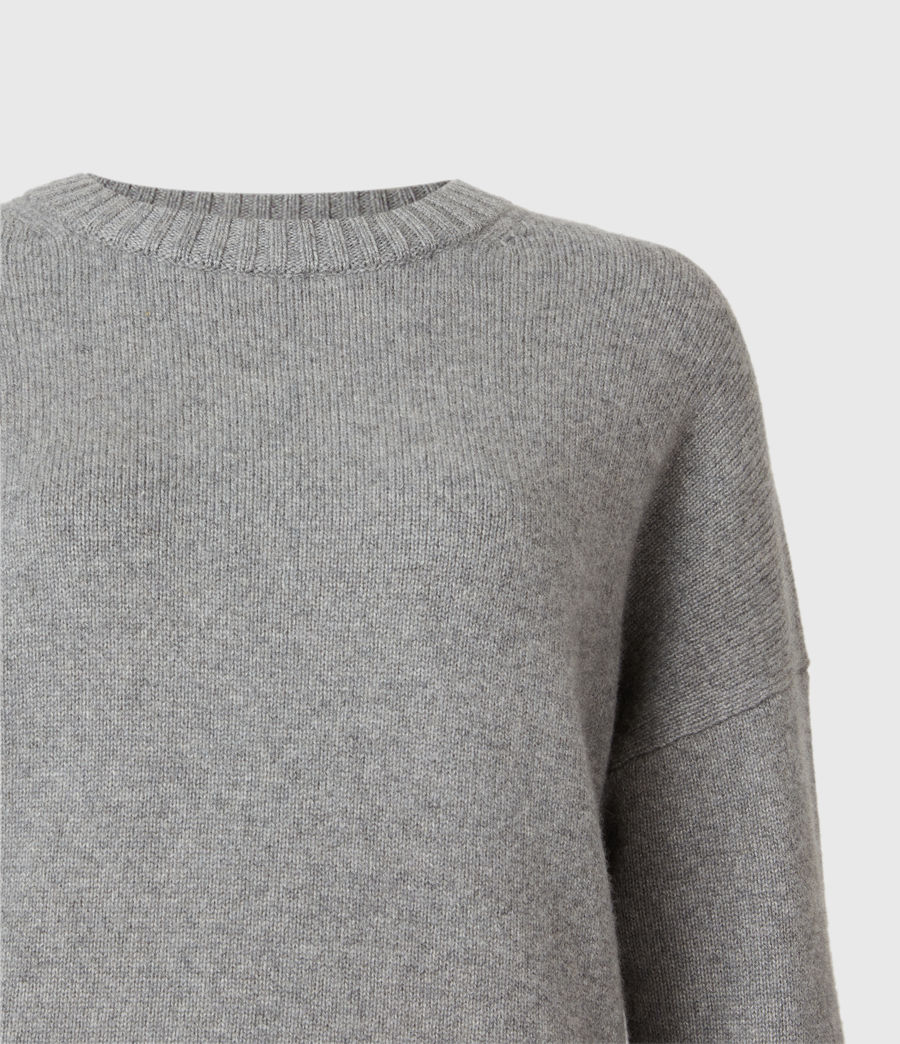Mujer Arun Cashmere Blend Sweater (grey_marl) - Image 4