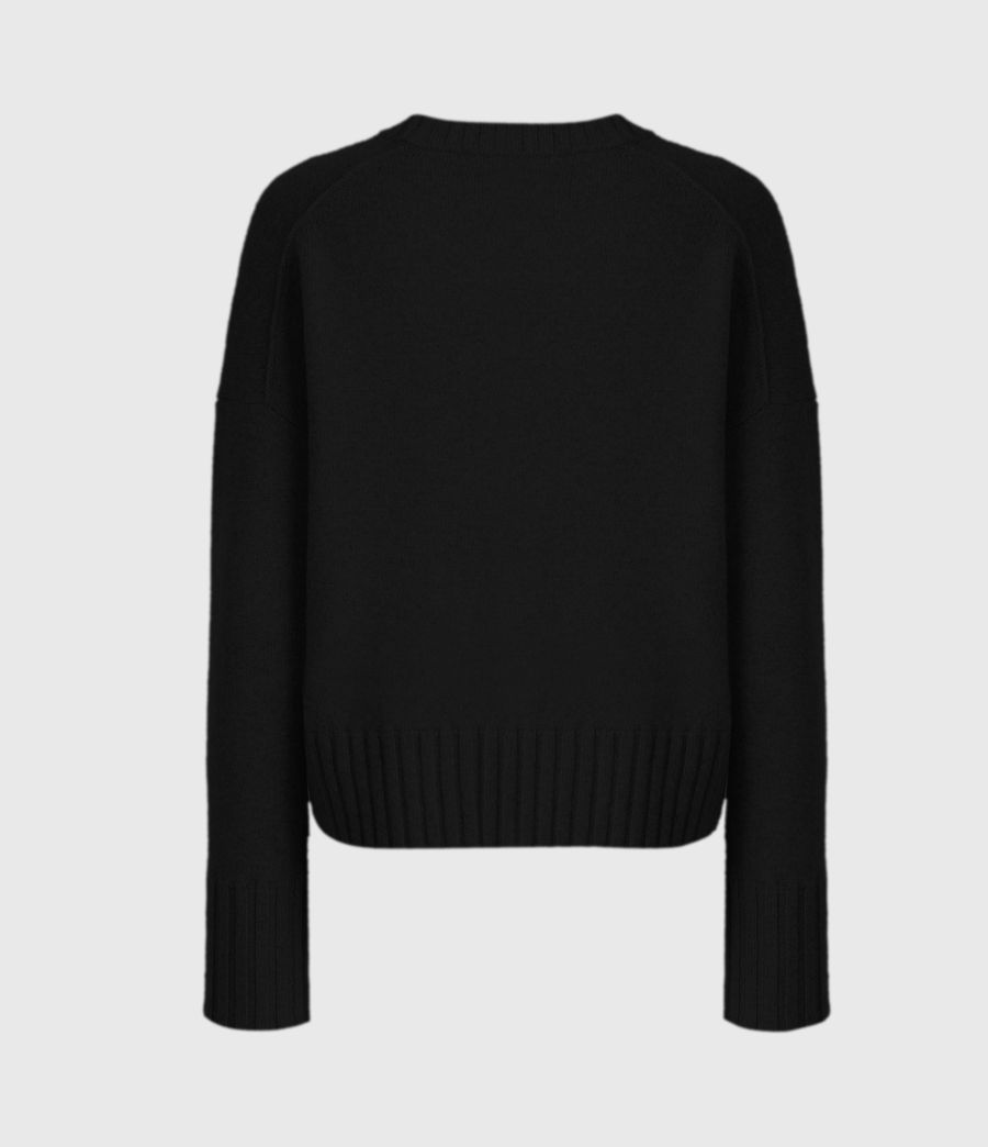 Womens Arun Crew Neck Cashmere Sweater (ice_white) - Image 3