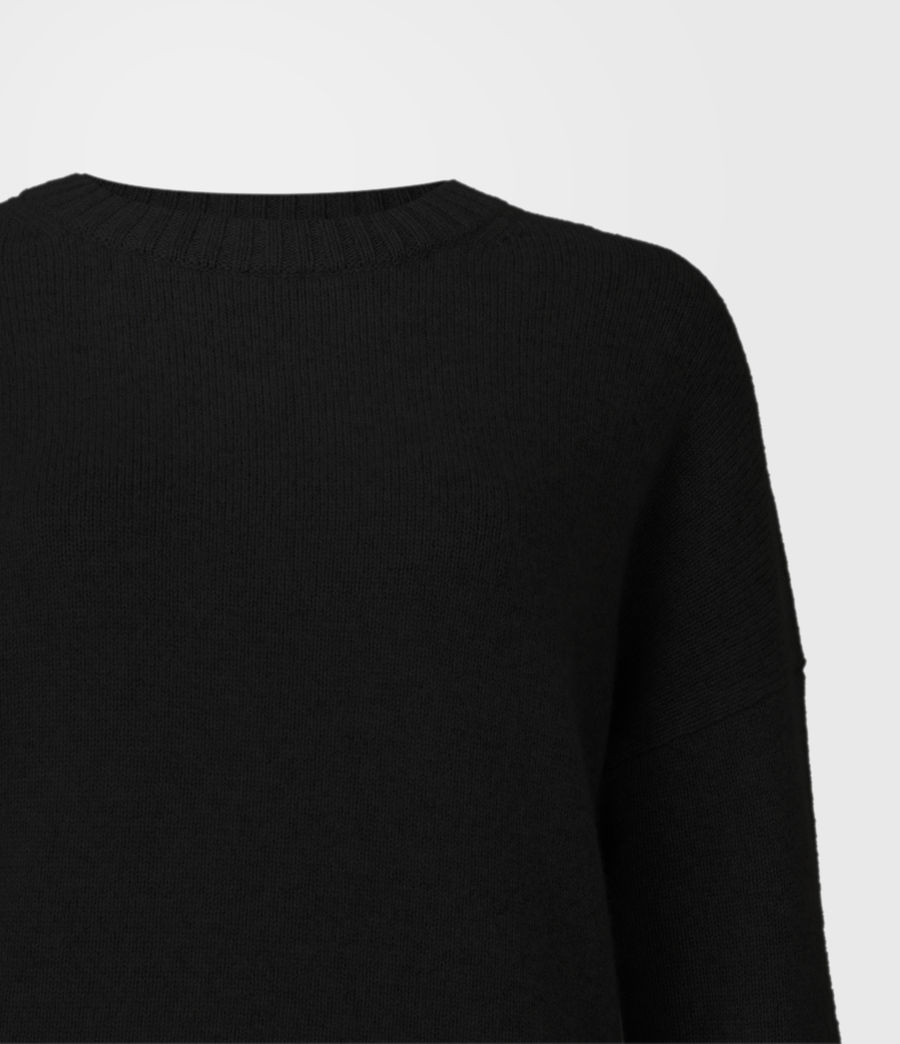 Womens Arun Cashmere Blend Sweater (black) - Image 5
