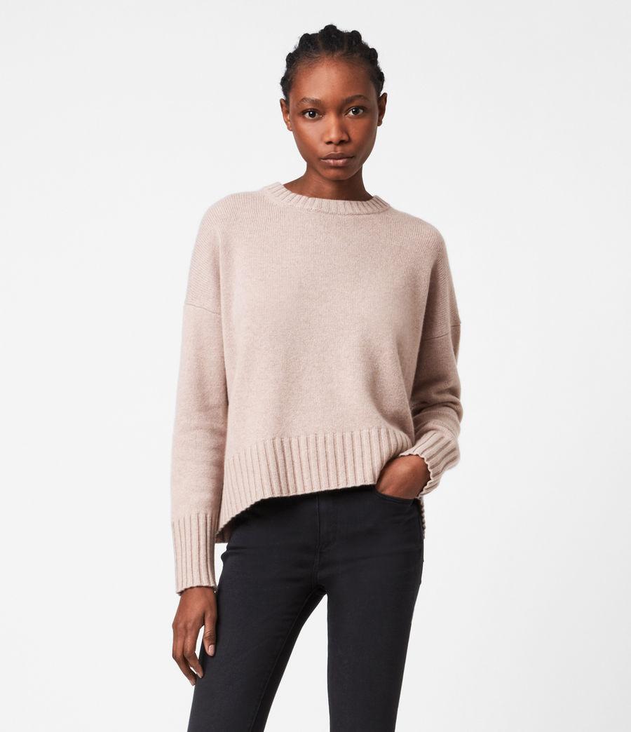 Womens Arun Cashmere Blend Sweater (pashmina_pink) - Image 1