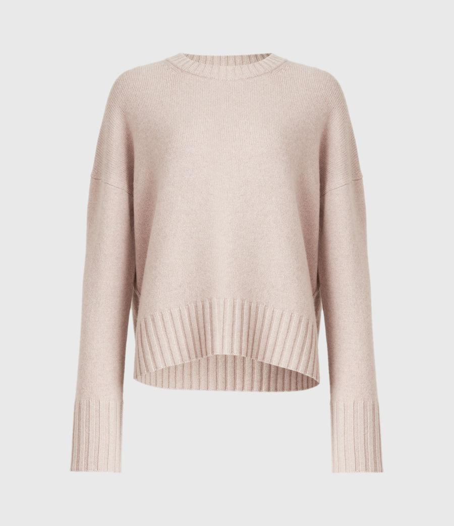 Womens Arun Cashmere Blend Sweater (pashmina_pink) - Image 2