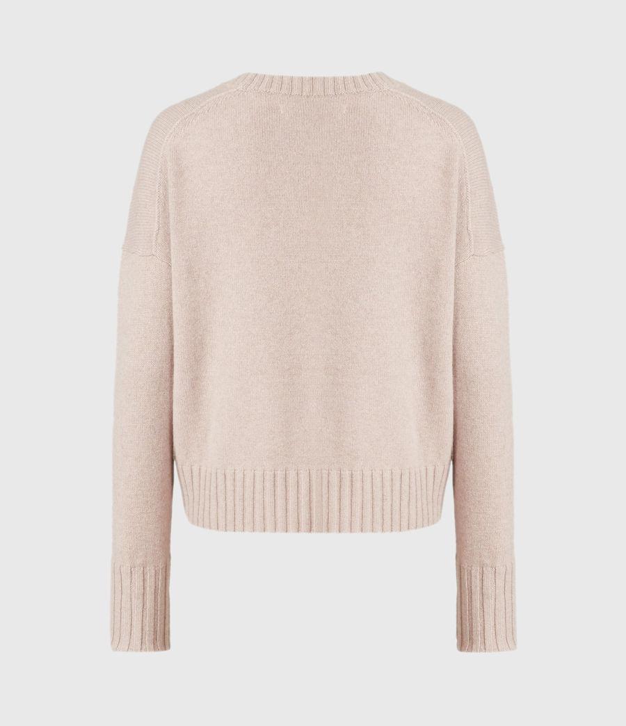 Womens Arun Cashmere Blend Sweater (pashmina_pink) - Image 3