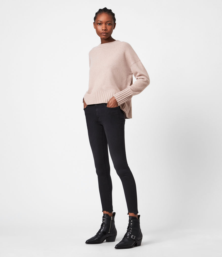 Womens Arun Cashmere Blend Sweater (pashmina_pink) - Image 4