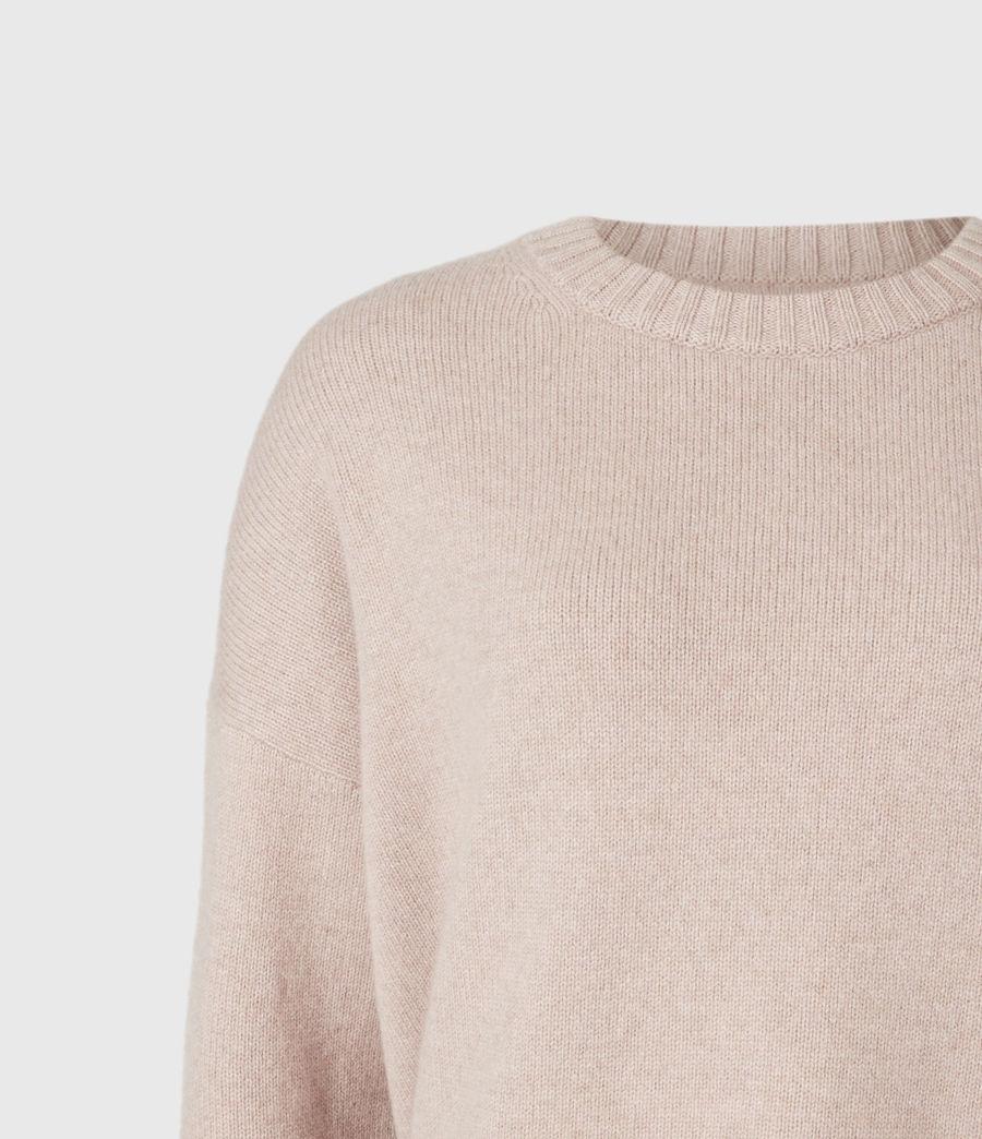 Womens Arun Cashmere Blend Sweater (pashmina_pink) - Image 5