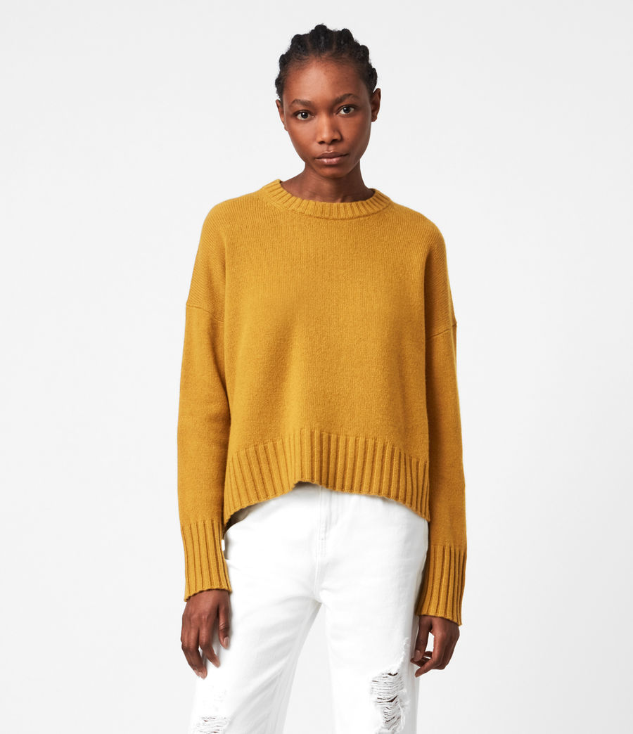 Womens Arun Cashmere Blend Sweater (gold) - Image 1