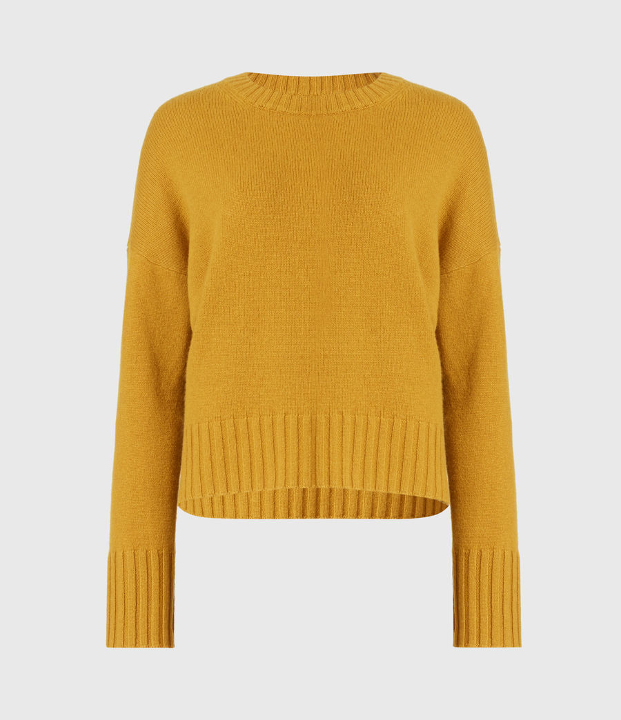 Womens Arun Cashmere Blend Sweater (gold) - Image 2