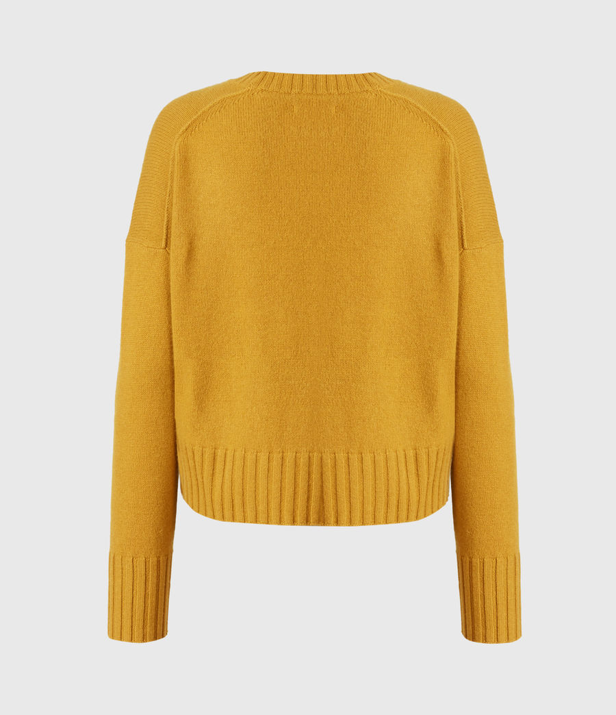 Womens Arun Cashmere Blend Sweater (gold) - Image 3